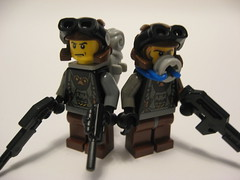 Post-Apoc Soldiers (Hound') Tags: lego soldiers brickarms apocalego