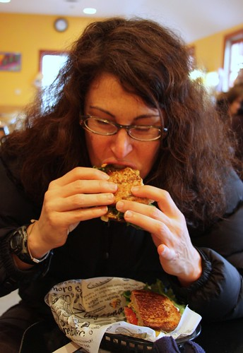 Lisa at Zingerman's Deli in Ann Arbor, Michigan