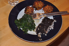 Victoriabars med oliventapenade, spinat og rodfrugt-rösti