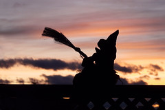 Bewitched (njchow82) Tags: sunset holiday calgary halloween silhouette fun evening scary october witch trickortreat boo spooky ornament mb beautifulexpression almostanything dmcfz18 njchow82 afhht