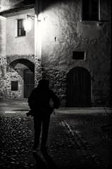 Photographer in the night (klausthebest) Tags: light bw italy night contrast italia photographer nocturnal piemonte piedmont italians candelo abigfave worldbest ricetto ricettodicandelo holidaysvacanzeurlaub angelalobefaro