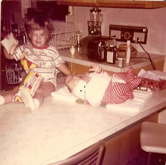 November 1971 (funny strange or funny ha ha) Tags: november chris oklahoma kitchen bread table jones 1971 toaster farm ok hooker wink debbe harrell 73945