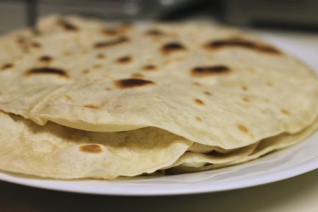 homemade tortillas for pumpkin tacos