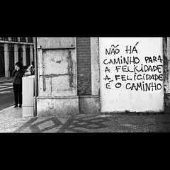 Fado XII: Don't cry, Lisbon (Sator Arepo) Tags: road leica blackandwhite bw portugal graffiti lisboa lisbon streetphotography explore 169 frontpage dlux decisivemoment dlux4 gettyimagesspainq1 iberiastreets retofez110816 gettyimagesiberiaq12012