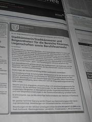 Stellenausschreibung der Stadt Dortmund (FAS)