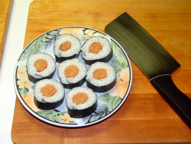 sausage sushi