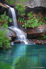 Waterfall (-yury-) Tags: park longexposure water canon waterfall rocks sydney australia falls national 5d kuringgai supershot abigfave gledhillfalls