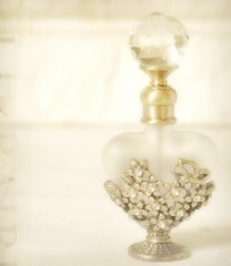 Golden Essence (luvpublishing) Tags: texture golden bottle perfume crystal overlay picnik layered perfumebottle explored antiquegold goldenflowers