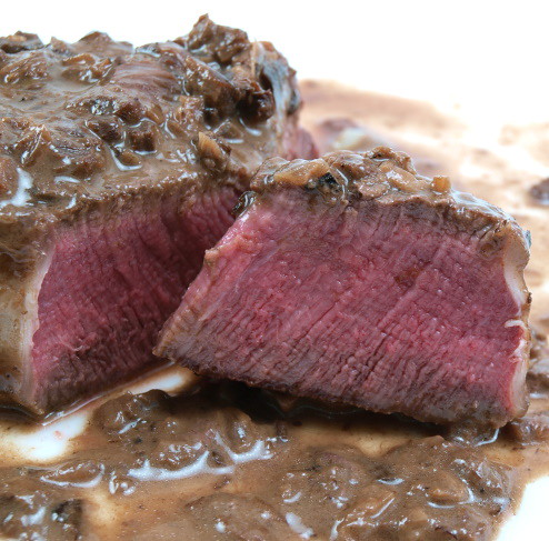 Seared Steak with Mushroom Cream Sauce