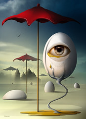 Lgrima (marcarambr) Tags: photomanipulation marcel tears surrealism egg digitalart magritte eggs dali salvadordali artedigital surrealistic bosch chirico surrealismo lagrima fantasyart surreale marcarambr coth5