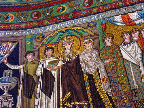 Theodora and her entourage