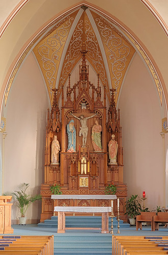 Saint Francis of Assisi Roman Catholic Church, in Aviston, Illinois, USA - sanctuary