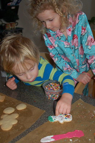 decorating cookies for santa