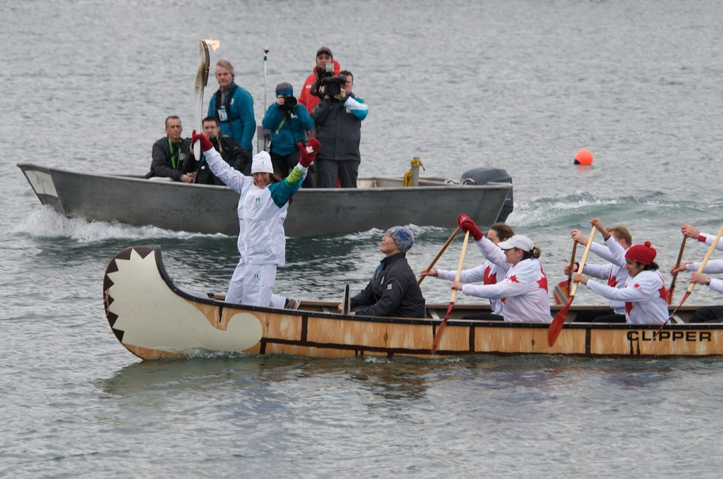 The Torch on a Traditional Canoe in False Creek
