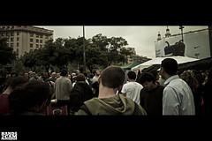 Democracia real YA! (Gerard Rodrguez) Tags: barcelona plaza espaa cinema look real gente pueblo social cine protesta ciudades catalunya cinematic manifestacion pacifica revolucion nacional clase ya lucha catalua futuro politica elecciones plaa etica 15m juventud derechos civica democracia reivindicacion revuelta h2c manifiesto burguesa aglomeracion hands2cam democraciareal