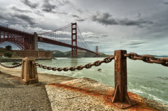 Unpredictable Weather (morozgrafix) Tags: sanfrancisco sky clouds bay rust chain goldengatebridge fortpoint hdr sigma1020mmf456 nikond7000