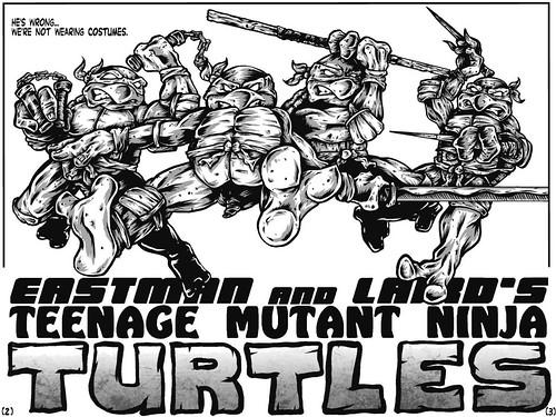 """Teenage Mutant Ninja Turtles"" #1 V.1 Remix Fan Comic / Pg.2,3 art by Koschei (( 2011 ))"