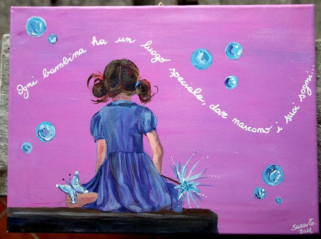 La bambina con le bolle