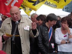 LIGUE DES DROITS DE L'HOMME (marsupilami92) Tags: france frankreich ledefrance nanterre politique tribunal ldh 92 sud cgt hautsdeseine partis syndicat solidaires postiers sudptt annickcoupe gauchecitoyenne