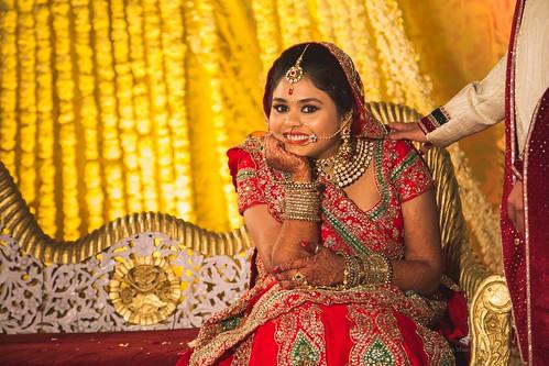 Visage of a Happy Bride
