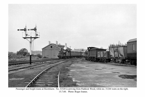 Hawkhurst. Passenger and freight trains. 15.7.60