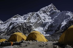 Campground at Gorak Shep, Nepal (owenweberlive) Tags: nepal everest basecamp tengboche dingboche himalayas himalaya mountains hiking hikers landscape landscapes earth nature mount mt asia asian travel vacation trek trekking nacho bazar bazaar climb climbing nepalese gorakshep