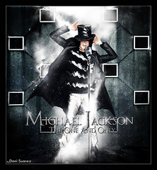 Michael Jackson - The One And Only (Daniel Suarez) Tags: light white black luz dan dark michael king daniel or bad dani pop jackson muerte micro rey mic thriller suarez leyenda leyend of