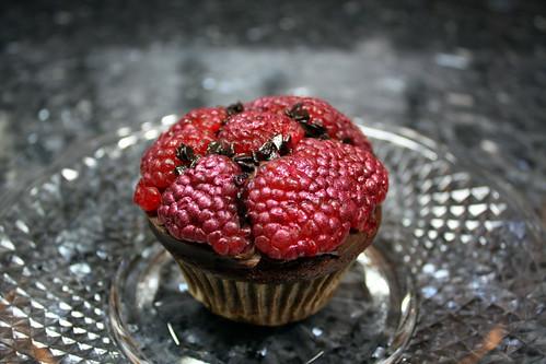 Chocolate Raspberry Cupcakes with Three Ganaches