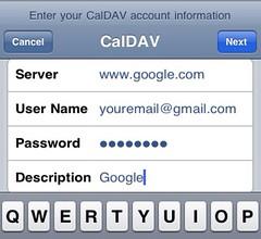 add google calendar to iphone