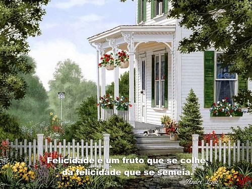 Felicidade é um fruto que se colhe... André Luiz por Instituto  André Luiz.