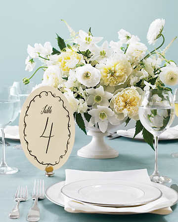 Hotels and restaurants usually provide table numbers for your wedding