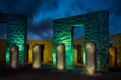 The soldier (LukeOlsen) Tags: usa washington memorial wwi goldendale stonehenge samhill maryhill strobist americanstonehenge 580exii lukeolsen pdxstrobist