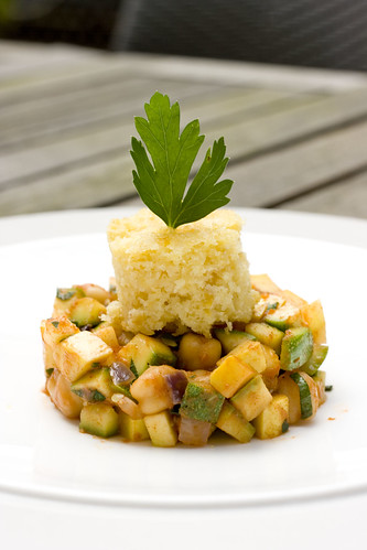 Summer Squash Chili with White Cheddar Cornbread 5
