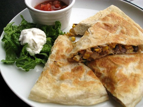 Roasted Corn, Black Bean, and Chicken Quesadillas – Elly ...