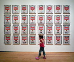 Andy Warhol, Campbell's Soup Cans with viewer