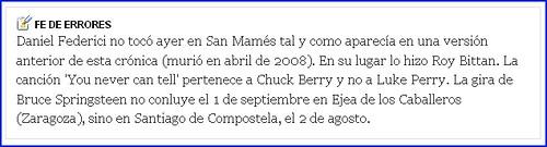 El País página web 27 julio 2009