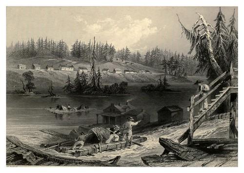 002- Balsas para descender por Les Chats en el alto Canada 1840