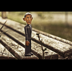 """US President Barack Obama Says """"I Like A Nice Bench"""" (©Komatoes) Tags: park wood grass bench toy 50mm us weeds nikon decay f14 g seat president explore exeter valley microphone nikkor obama 310 afs 50mmf14 ludwell barackobama barack d40 nikond40 ludwellvalleypark"""
