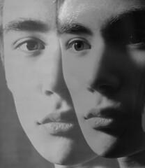 portrait # 2 (Daniel Groos) Tags: portrait bw face myself persona blackwhite exposure experimental artistic surrealism surreal double mysterious twice dreamlike avantgarde ingmarbergman canoneos1000d