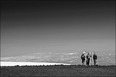 high conversation (heavenuphere) Tags: world people bw italy snow heritage volcano site italia view unesco sicily etna sicilia mountetna 2900m 55250mm
