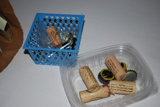 My mom collects wine corks, I collect bottle caps for a project I am in the works of