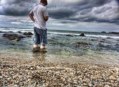 Accidental (rmrayner) Tags: ocean longexposure sea beach coast seaside delay cornwall waves slow pebbles atlantic salty shore remote shorts canoneos hdr slowshutterspeed shallows 3xp rmrayner ralphrayner