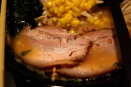 Pork in ramen at Sumo ramen