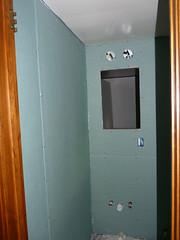 P1010044 (defythegray) Tags: halfbath greenboard