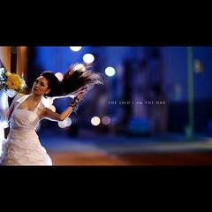 day 242.5 (Dustin Diaz) Tags: sanfrancisco wedding portrait night umbrella dark bride evening model nikon downtown dof bokeh financialdistrict tina bridal gel d3 stubby twolights 200mmf20g strobist sb900 dedfolio