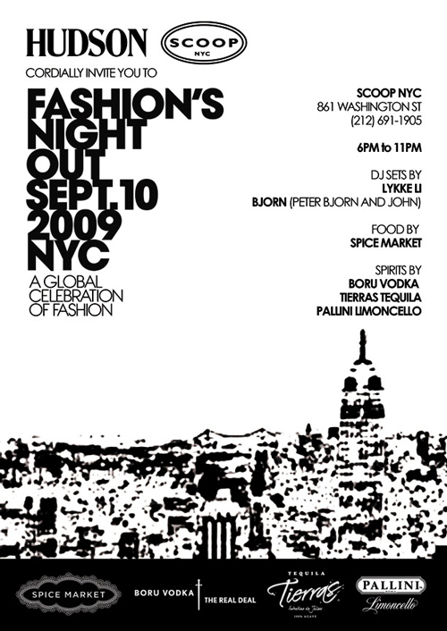 HUDSON JEANS x SCOOP NYC Fashion's Night Out