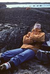 A well deserved rest! (Yvon from Ottawa) Tags: kodachrome geology fieldwork moire coolscan nunavut fury baffinisland geological hecla canadianshield baffin wadleigh supercoolscan5000