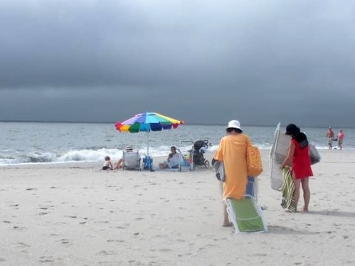 The Beach on a Cloudy Day