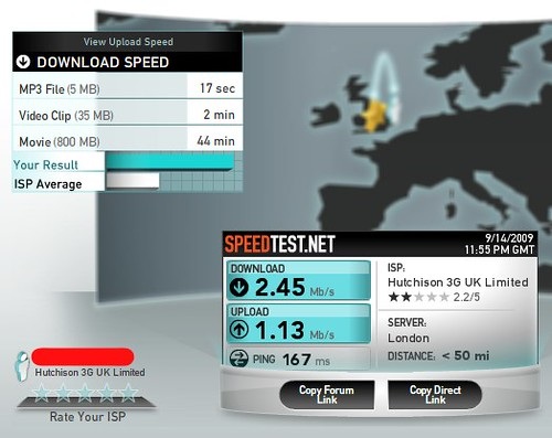3UK Huawei E5830 - WiFi to London