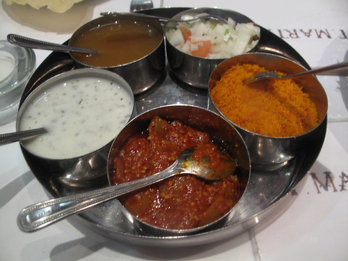 The chutnies and sauces
